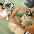 Miki attractive pantyhose wearer